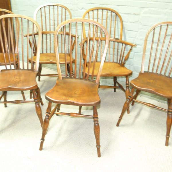 Elm And Ash Set Of Six Chairs Gaylords Antiques